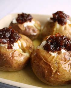 Caramelised Onion & Goat's Cheese Jackets (V)