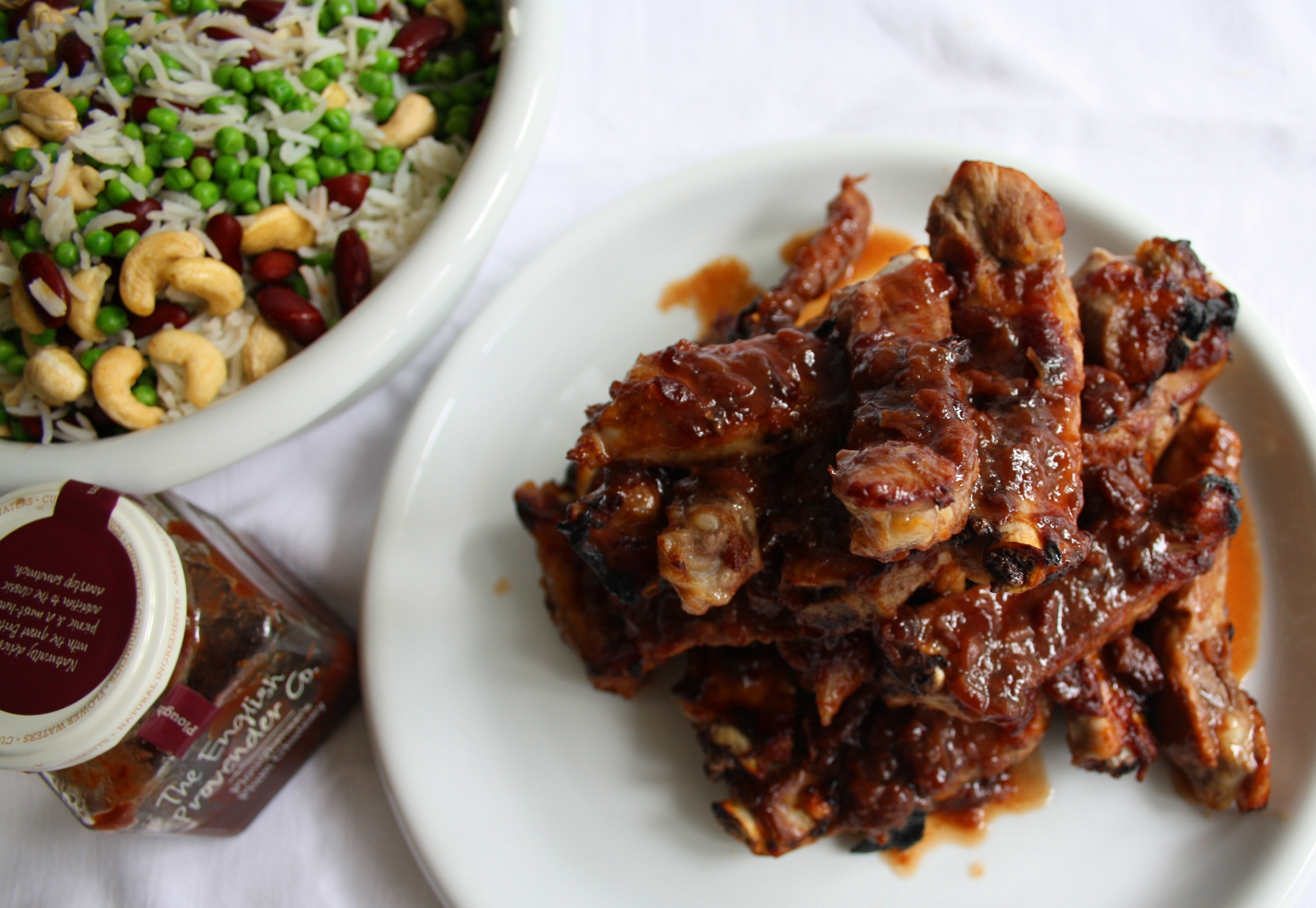 /recipes/entertaining/plum-glazed-spare-ribs-with-cashew-rice/