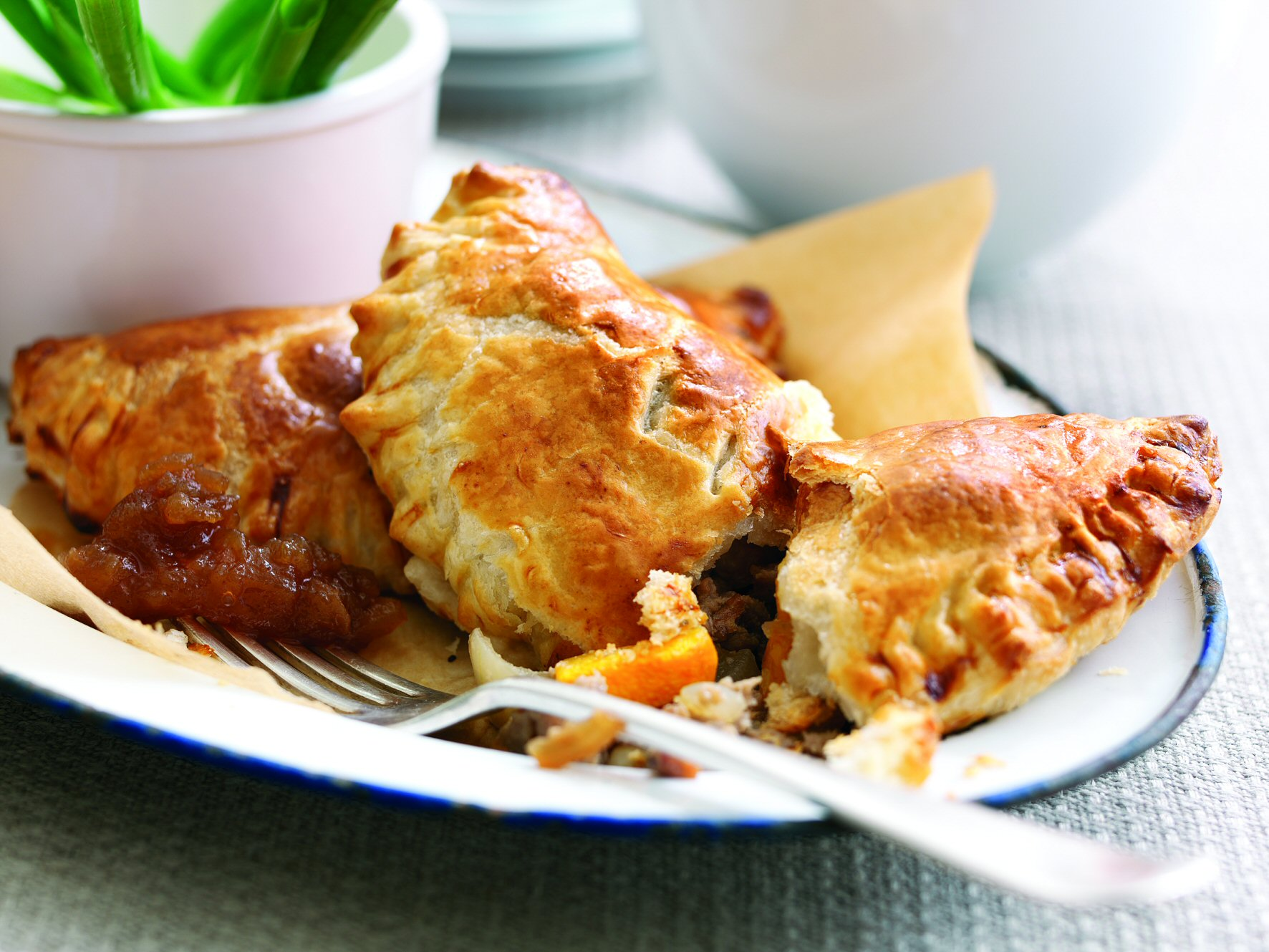 Pork & Apple, Pear & Fig Chutney Pasties